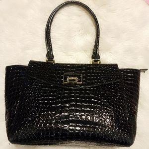 Antonio Melani Large Leather Shoulder Bag Tote